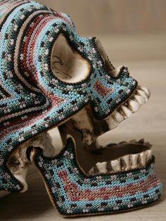 beaded skull
