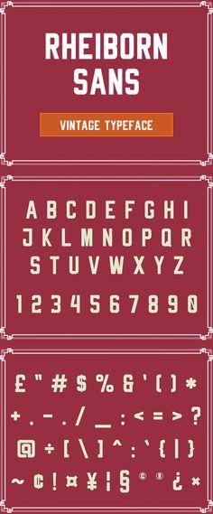 Rheiborn Sans Free Vintage Font #bestfonts #freefonts #freebies #retrofonts #topfonts #vintagefonts #cleanfonts
