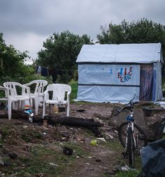 'France' at the jungle migrant and refugee camp Calais