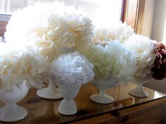 Tissue paper flowers for any or no occasion. Very elegant and easy.
