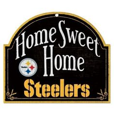 f9a7be70 NFL Pittsburgh Steelers Man Cave Home Sweet Home Wood Arched Sign, 10