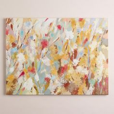 "Angela- hallway wall, across from bathroom, pair with 2 diagonal prints in white frames?  ""Celebration Garden"" by Joasia Pawlak"