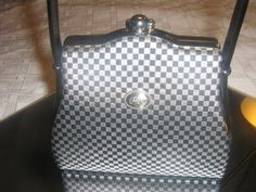 Vintage Candies Purse Black And White Handbag  Retro. $25.00, via Etsy.