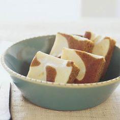 Swirled Pumpkin-Cream Cheese Bars | MyRecipes.com
