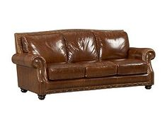 classic brown leather couch for living room