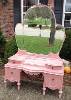 SOLD  Gorgeous Antique Vanity by VintagePieceRedeemed on Etsy, $595.00