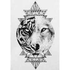 Znalezione obrazy dla zapytania tiger wolf yin yang tattoo