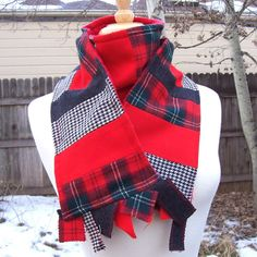 Well known plaid wool manufactur upcycled Wool and Minky Scarf by sewinggeek on Etsy https://www.etsy.com/listing/19086053/well-known-plaid-wool-manufactur