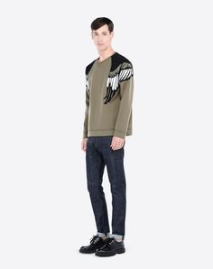 Boutique en ligne Valentino - Sweat Shirt Avec Faucon Thermocollé Homme  Valentino Peregrino 557099496