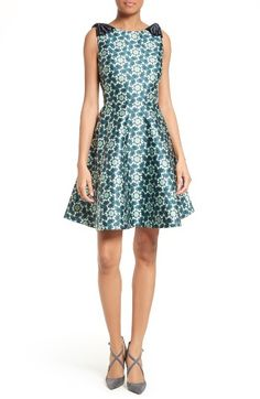 Ted Baker London Sainte Kaleidoscope Faille Fit & Flare Dress available at Ted Baker Fashion, All Fashion, Fashion 2017, Fashion Dresses, Modern Fashion, Fashion Clothes, Latest Fashion, Winter Fashion, Fashion Trends