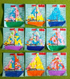 Art Projects for Kids Summer Sailboats