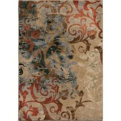 Orian Rugs Goddess Multi 7 ft. 10 in. x 10 ft. 10 in. Area Rug-307191 - The Home Depot