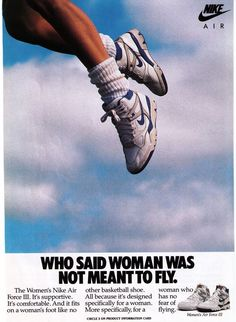 "Nike ""Air Force Women's Basketball Shoe Print Advertisement - The basketball and sportswear culture had a huge influence on footwear during the Branding was also a big trend. Aesthetic Collage, Aesthetic Vintage, Aesthetic Photo, Aesthetic Pictures, 80s Aesthetic, Room Posters, Poster Wall, Poster Prints, Nike Poster"