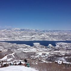 Jordanelle lake from Deer Valley ski resort. Didn't know I could love snow so much!