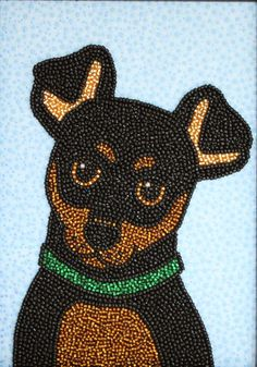 Miniature Pinscher Beaded Dog by LisaSalamendra on Etsy, $125.00