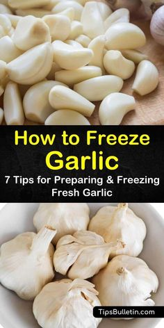 Learn how to use olive oils and garlic cloves to make a garlic puree that is perfect for freezing. Garlic in oil can be used as a base for sauces or spread on toasted bread. We'll show you how to freeze whole garlic cloves as well as chopped garlic. #freezinggarlic #freezegarlic #garlic