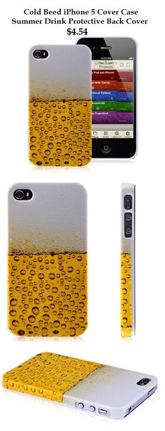 Cold Beer iPhone 5 Case - Summer Drink Protective Cover Case for iPhone 5 5S 5C #beer #case #iphone5 #summer #drink #apple $4.54