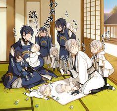 the secret of touken ranbu Touken Ranbu Mikazuki, Nikkari Aoe, Anime Family, Image Manga, Cute Chibi, Manga Boy, Bleach Anime, Japan Art, My Favorite Image
