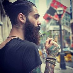 Visit our website for moreAaron Malley - full thick bushy dark beard mustache beards bearded man men mens'. Beard Styles For Men, Hair And Beard Styles, Long Hair Styles, Sexy Beard, Beard Love, Bart Styles, Long Beards, Beard Growth, Awesome Beards