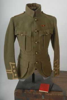 Victorian 4th Queen's Own Hussars Offr's WW1 Musketry Book & Tunic