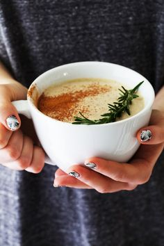 Rosemary hot white chocolate