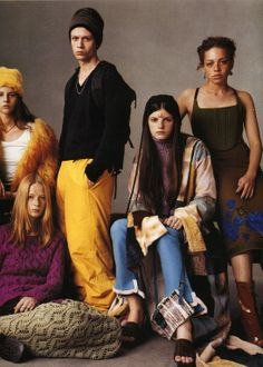 """The Group"" photographed by Steven Meisel, Vogue Italia July 1999"