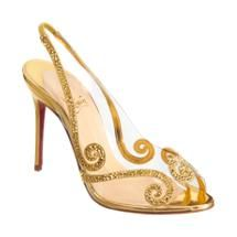 Christian Louboutin Au Hameau..this makes me want gold in my wedding theme :-)