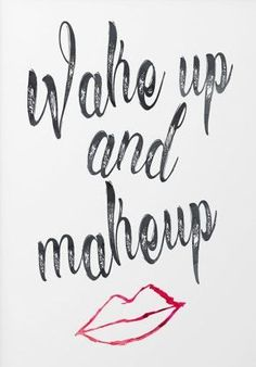 nice Bathroom art print - wake up and make up - quotes for bathroom - washroom art - bathroom decor - makeup quote