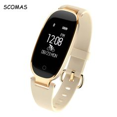 SCOMAS S3 Bluetooth Waterproof, Fashion Women Smart Watch with Heart Rate Monitor and Fitness Tracker for Android IOS //Price: $53.85 & FREE Shipping //     #fashionsmartwatch