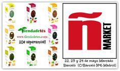 ¡¡El 22, 23 y 24 de mayo estaremos participando en Malasaña Market en el Mercado Barceló (C/Barceló Nº 6 Madrid)!! ¡¡Os esperamos!! #Tiendadetés #Ñmarket #MalasañaMarket #MercadoBarceló #Madrid #Té #Tea #TeaTime #Relax #Infusiones