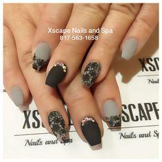Matte lace nail designs