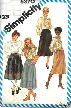 Simplicity 6370 Misses Set Of Gathered Skirts Sewing Pattern, Size 16, UNCUT by DawnsDesignBoutique on Etsy