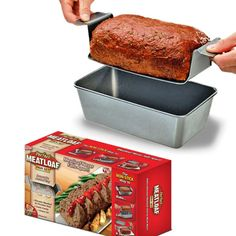 """The Perfect Meatloaf Pan that will make it easy to lift your 'loaf out after baking. 