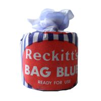 Back in Stock - Vintage Washing Laundry Reckitt's Bag Blue Reckitt & Coleman Hull Dolly Bag NOS Dolly Blue Long before the age of modern washing machines and powerful laundry detergents there was Reckitt's Blue considered to be one of the firs