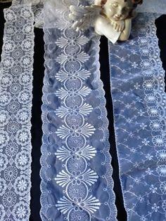 Vintage Spitze - ❤PostenVintageOrganzaRosenSpitze,PlauenTRAUM weiß - ein Designerstück von mypatchworld bei DaWanda Designer, Quilts, Embroidery, Blanket, Etsy, Vintage Lace, Needlepoint, Quilt Sets, Blankets
