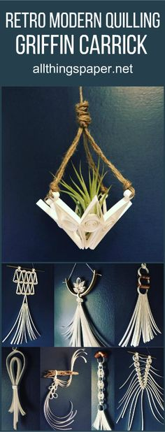 quilled airplant holder!