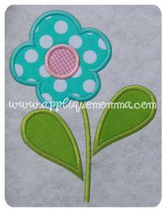 Flower 3 Applique Design
