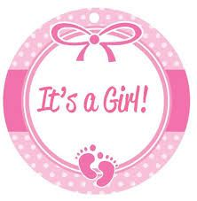 Baby Shower Favor Tags - Boy or Girl - Border with footprints