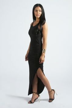 Poppy Ruched Side Detail Maxi Dress