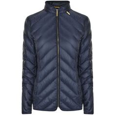 MICHAEL MICHAEL KORS Chevron Quilted Jacket (7 855 UAH) ❤ liked on Polyvore featuring outerwear, jackets, michael michael kors, quilted jacket, michael michael kors jacket, padded jacket and feather jackets