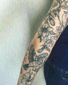 New Ideas Nature Tattoo Sleeve Birds Beautiful Piercings, Piercing Tattoo, Et Tattoo, Pretty Tattoos, Cute Tattoos, Unique Tattoos, Beautiful Tattoos, Flower Tattoos, Tattoos Skull
