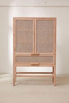 Marte Storage Cabinet - home - Design Rattan Furniture Cane Furniture, Furniture Design, Furniture Storage, Apartment Furniture, Wood Storage, Storage Shelves, Cheap Furniture, Ratan Furniture, Furniture Ideas