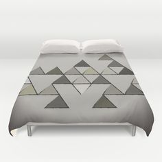 Grunge Triangles Duvet Cover by GoAti - $99.00