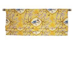PH&D Bluebird Vignette Faux Roman Shade Valance in Daffodil Yellow Custom Valances, Faux Roman Shades, Curtains With Blinds, Rod Pocket, Daffodils, Drapery, Blue Bird, Vignettes, Window Treatments