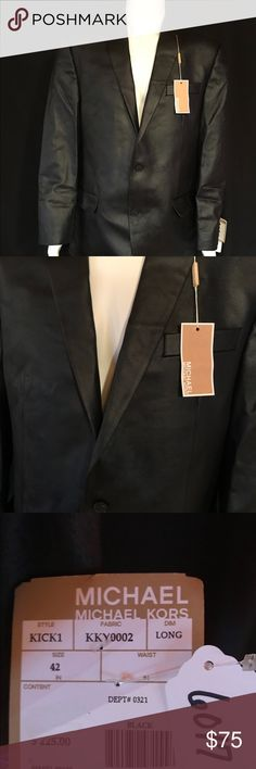 NWT Men's Michael Michael Kors Blazer Black Sz 42L New With Tags and New Without Tags mean they are all brand new and never worn nor laundered.  All of my listings come from a smoke free and pet free environment - please ask all questions before purchasing - Happy Poshing  **All Reasonable Offers Will Be Considered** MICHAEL Michael Kors Suits & Blazers Sport Coats & Blazers