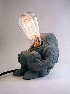 Little Spaceman Lamp by Matthew Borgatti