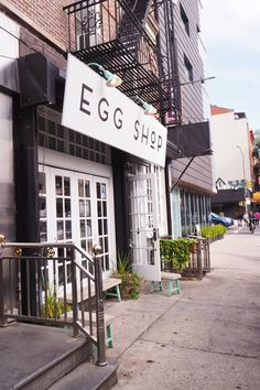 Four places to eat in New York City if you're looking for breakfast, brunch, lunch and dinner! The Egg Shop, The Clocktower, The Standard Grill and Jacks Wife Freda