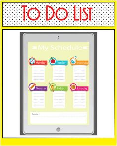This fun, fantastic day planner, schedule, to do list is a great addition to…