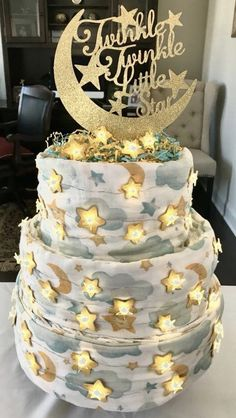 Twinkle Twinkle Little Star Diaper Cake (It lights up and plays music.)