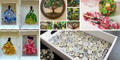 Artesanía Creativa: Modelos Fáciles de Hacer Button Art Projects, Vintage Art, Vintage Jewelry, Easter, Crafts, Home Decor, Couture, Casual, Rolodex